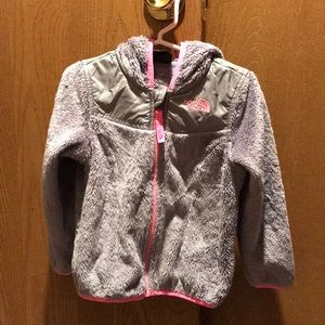 Toddler girl North Face jacket with hood
